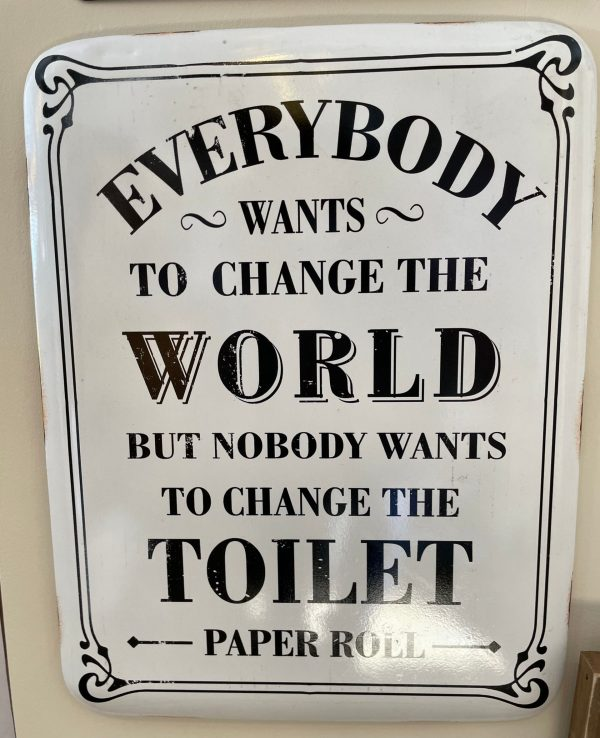 Change the world sign