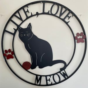 We Love Meow Sign