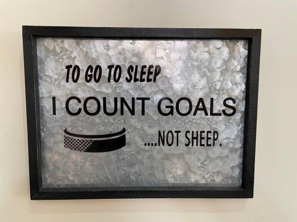 Count Goals not sheep sign