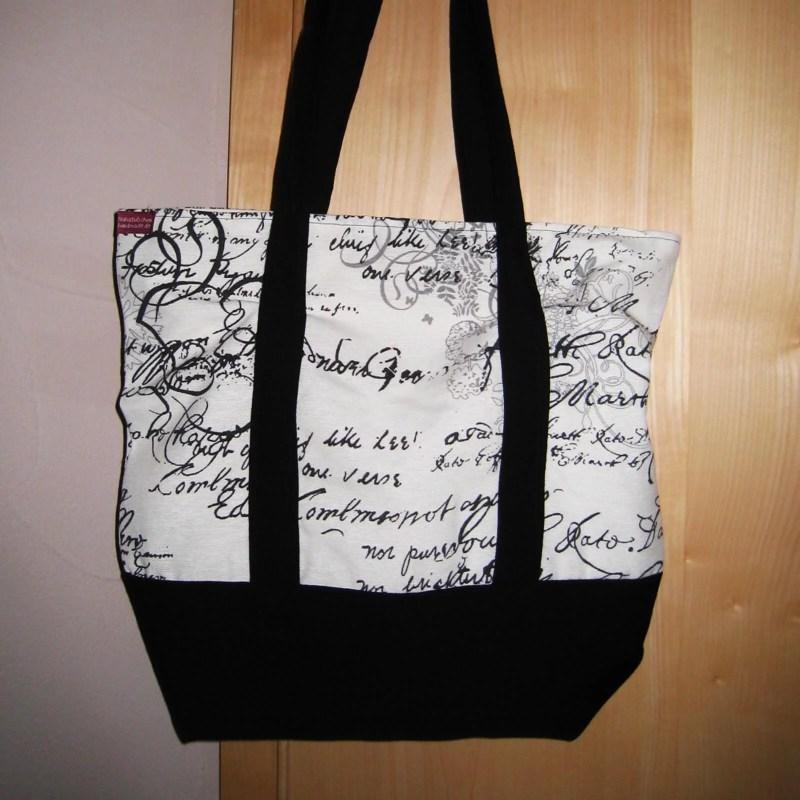zweifarbige Einkaufstasche