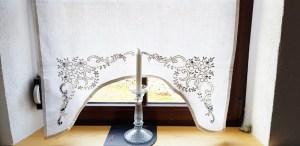 vintage gestickte Gardine