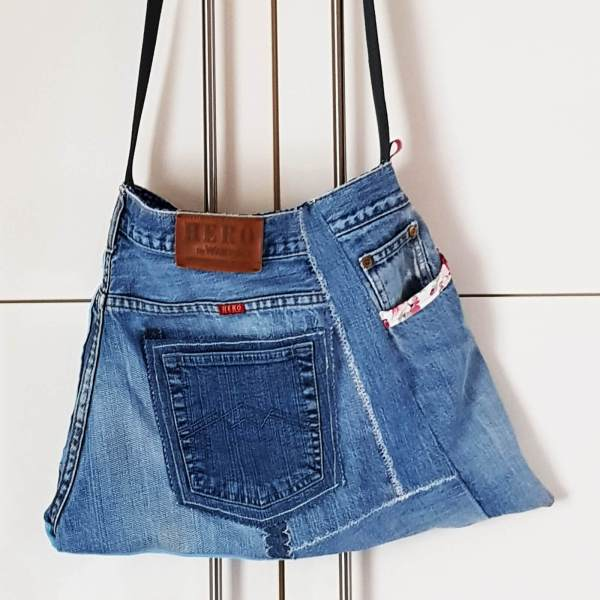 süße Jeanstasche