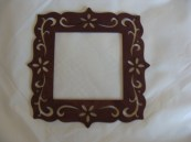 Dark Chocolate Brown Small Frame hand painted