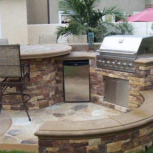 Outdoor Stone Kitchen