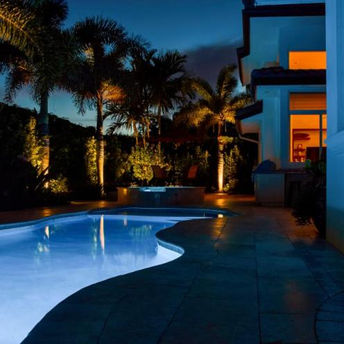 Big Pool With Lights