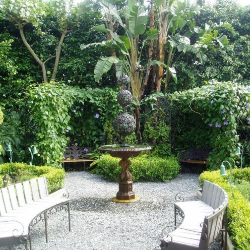 Garden With A Fountain