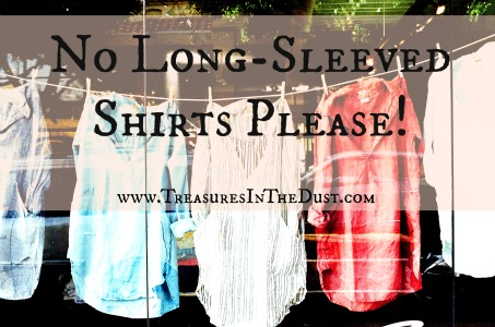 No Long-Sleeved Shirts