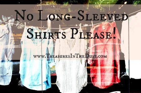 No Long-Sleeved Shirts
