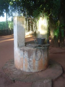 The well where we get the water for drinking terere, cooking food and washing clothes.