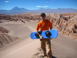 Snowboarding in Death Valley in Northern Chile!