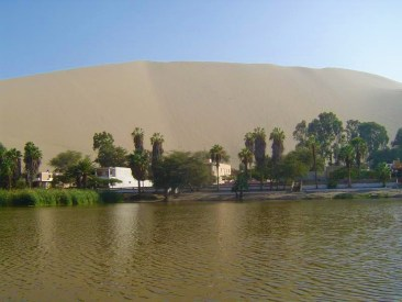 The oasis of Huacachina.