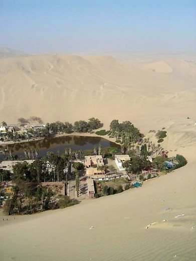 The beautiful oasis town of Huacachina!