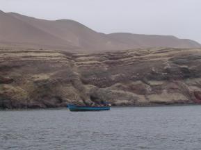 The Peruvian coastline of Paracas.
