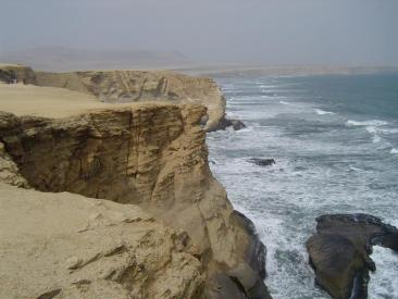 The jagged coastline of Paracas National Reserve in Peru!