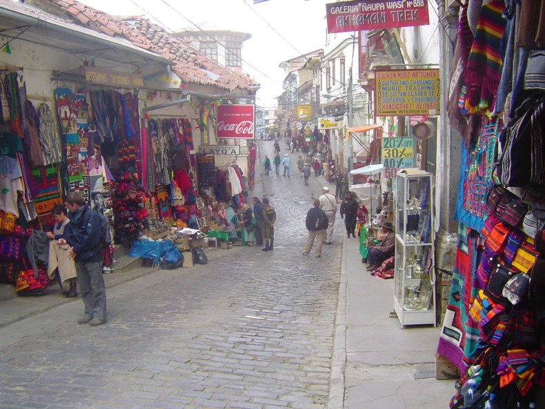 One of the best places to get all of your gift shopping done at is the tourist market on Calle Sagarnaga and Linares.