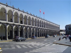 Arequipa's central plaza, which in Spanish is called La Plaza de Armas has absolutely beautiful colonial architecture!