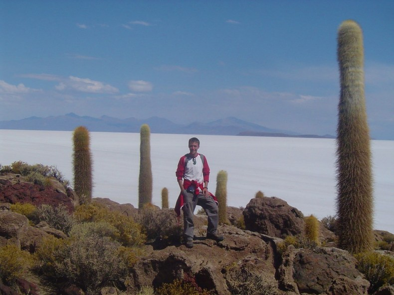 In the middle of Salar de Uyuni is the Island of Incahuasi, which is actually a Bolivian National Park and is covered in giant cacti!