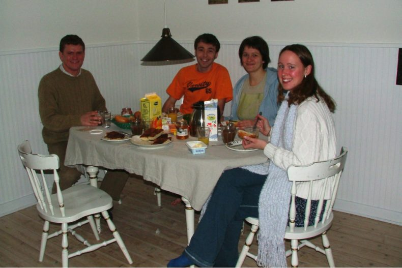 Eating Breakfast with the Host Family