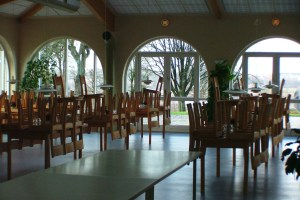 The dining hall of the Viborg Gymnastics and Sports Academy.