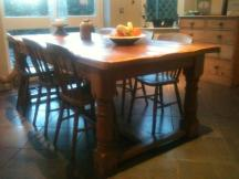 Reclaimed English Pine Traditional Refectory Table