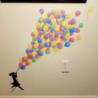 Holding On - Acrylic Mural