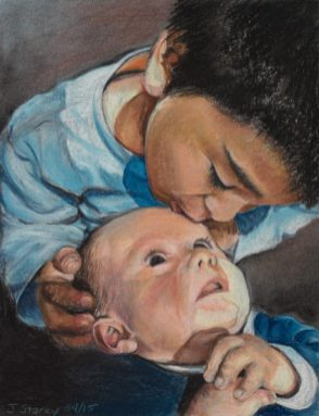 Sebastian and Santiago, Pastel, 11 x 14