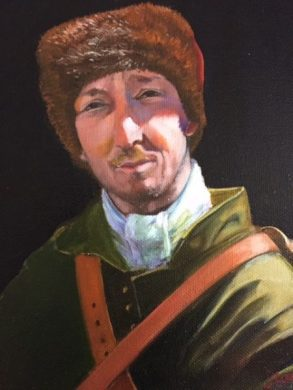 """""""Man in a Fur Hat"""" oil on panel. 8"""" x 10"""""""
