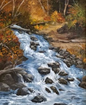 Alaskan Waterfall - Oil