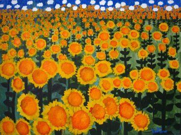 Sunflowers 36x48 Oil:Canvas
