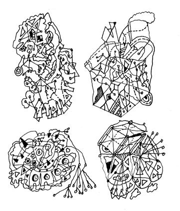 Dynamic Symmetry, print of original ink drawing