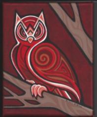 """Autumn Elemental - acrylic and gouache on canvas - 8"""" x 10"""""""