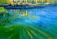 """Pearl Lake Reflection. 25""""x35"""", Oil on canvas"""