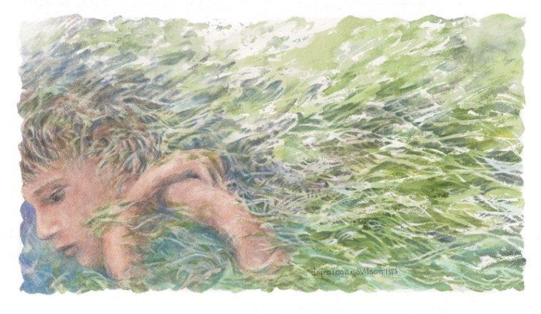 Adrift in Wonder, watercolor