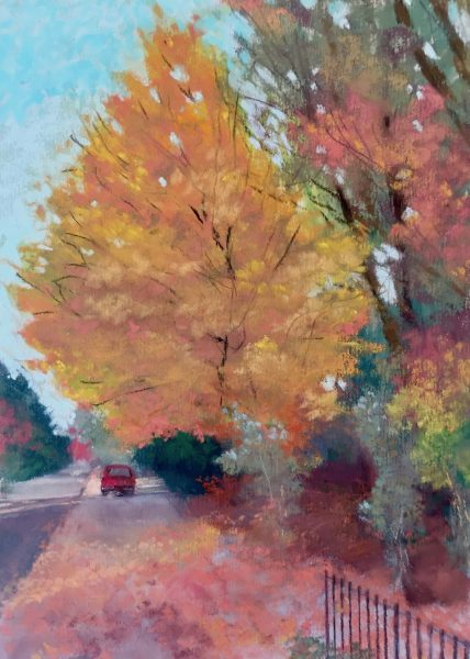 That Tree On 23rd Street, pastel