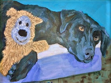 Me And My Baby, acrylic on canvas