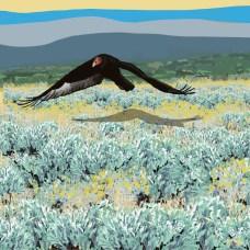 Soaring Over the Steppe III, digital