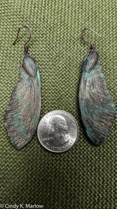 Samara earrings, resin & handmade mold