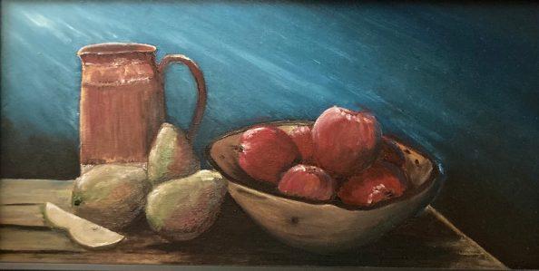 "Harvest, Oil on Canvas, 10""x20"""