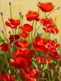 """A Chorus of Poppies"", Oil, 12x16"