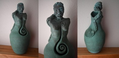 Goddess Danu, ceramic