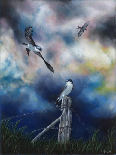 """Swallows"", Acrylic, 18x24"