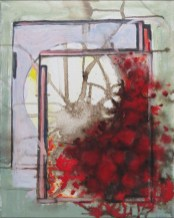 """Gotterdammerung"", acrylic, ink on canvas, 20"" x 16"""