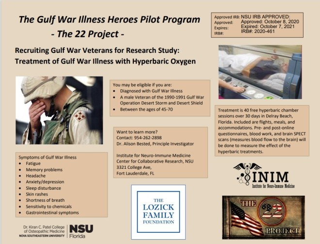 Gulf War Illness HBOT Study