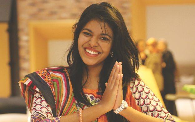 Grateful Indian Woman