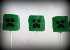 mine craft cake pops