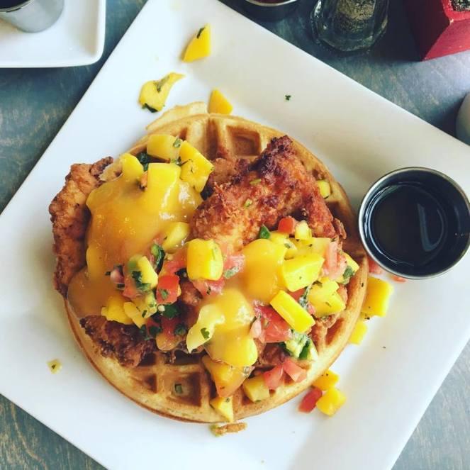 The best Chicken and Waffles LA - @thedashanddine