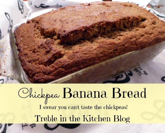 chickpea banana bread text
