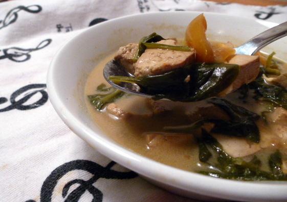 creamy curry tofu spoon