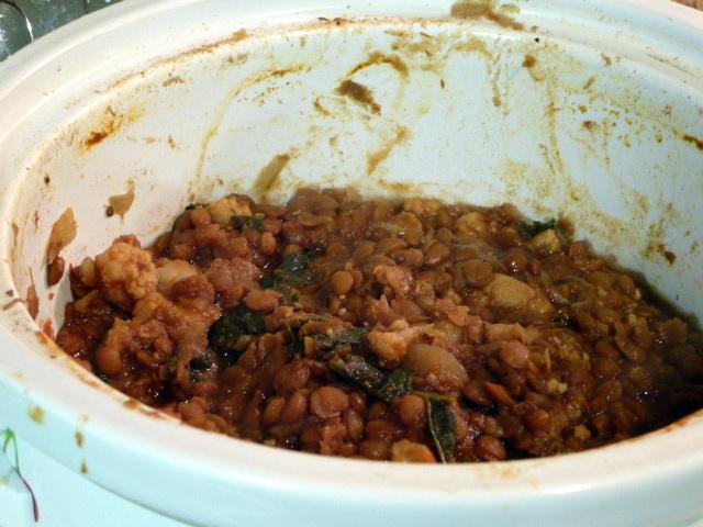 lentil kale curry crock pot