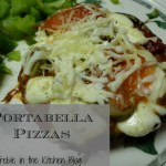 Healthy Date Night Dinner:  Portabella Pizzas and Black Bean Brownies